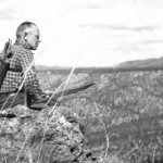 Aldo Leopold on Rimrock above the Rio Gavilan in northern Mexico