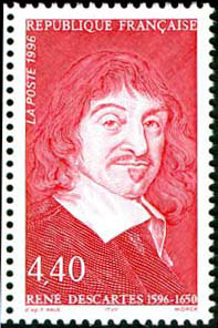 Descartes stamp (France, 1996)