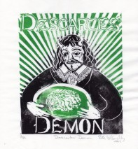 """Descartes' Demon,"" by Ele Willoughby of the minouette Etsy shop."