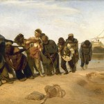 Ilya Yefimovich Repin's painting, Barge Haulers on the Volga (1870-73).