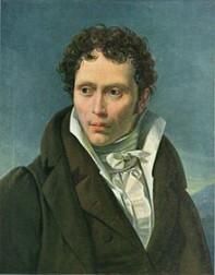 Arthur Schopenhauer; Portrait by Ludwig Sigismund Ruhl (1815)