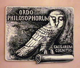 """Ordo philosophorum,"" or ""Order of the Philosophers""; ""causarum cognitio,"" or ""knowledge of causes"" - an echo of Aristotle"