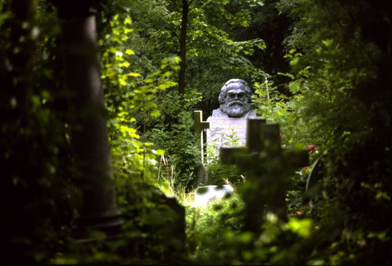 Grave of Karl Marx, Highgate Cemetery, London, England, 1985