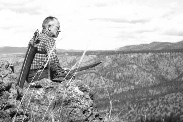 Aldo Leopold on Rimrock above the Rio Gavilan in northern Mexico